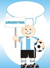 Postal de Aliento para la selección Argentina de Futbol