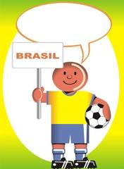 Postal de Aliento para la selección Brasileña de Futbol