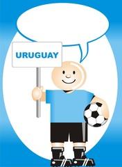 Postal de Aliento para la selección Uruguaya de Futbol