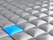 abstract smooth grey metallic cubes