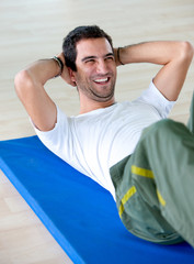 Man doing abdominal