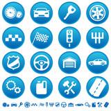 Fototapety Auto icons
