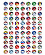 worlds wave flags
