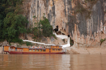 The caves are noted for their impressive Lao style Buddha.