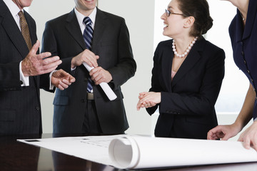 Discussion pf plans in corporate office