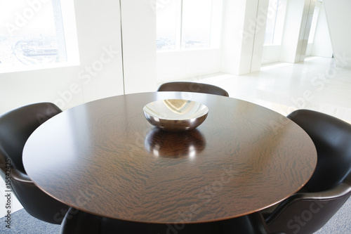 Conference room table in contemporary office.