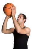 Fototapeta Man Shooting Basketball