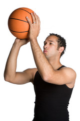 Man Shooting Basketball