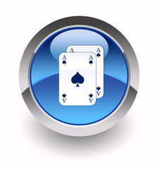 Playing cards glossy icon