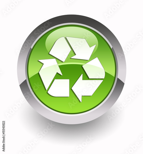 Recycle glossy icon (set 2)