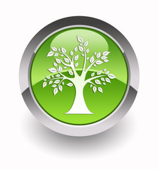 Eco tree glossy icon