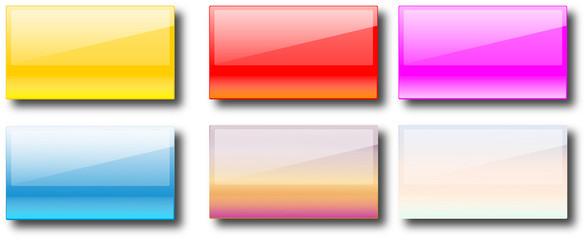 bouton rectangulaire, reflet brillant pour l'eclat de votre site