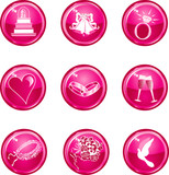 Wedding Icon Buttons