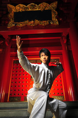 Young Asian Man Training Martial Arts