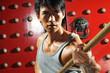roleta: Young Asian Man Practising Martial Arts