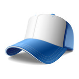 Blue cap. Vector. Insert your graphics. poster