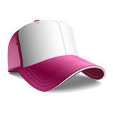 Pink cap. Vector. Insert your graphics. poster