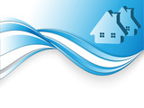 vector header for real estate  company with copy space poster