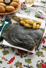 Rombo al forno su letto di patate - Secondi di pesce Veneto