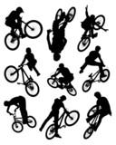 Bike stunt silhouettes poster