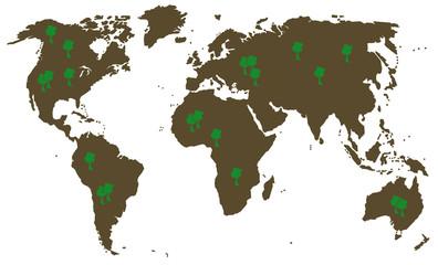 Weltkarte, world map,