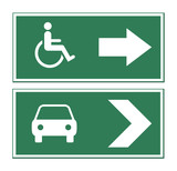 Car and disabled sign poster