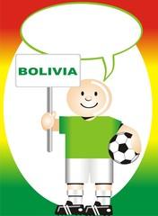 Postal de Aliento para la selección Boliviana de Futbol