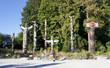 Leinwanddruck Bild - Totem Poles in Stanley Park