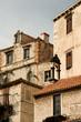 Terrace of old houses in historic Sibenik, Croatia