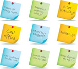 post it notes with different handwritten messages poster