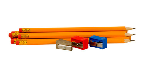 PENCILS WITH DIFFERENT SHARPENERS