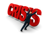 struggle with the crisis poster