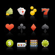 Icon Set in Black - Casino