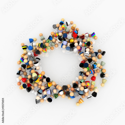 Cartoon Crowd, Circle Pile