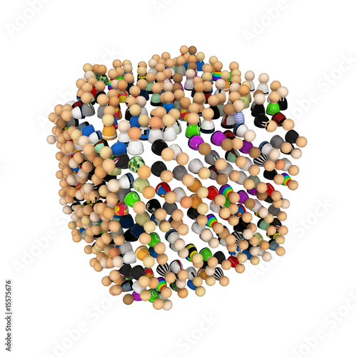 Cartoon Crowd, Cube