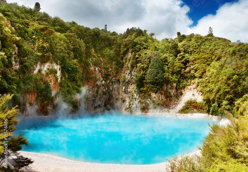 Fotobehang Nieuw Zeeland Hot thermal spring, New Zealand