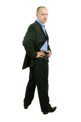 full length portrait of a businessman