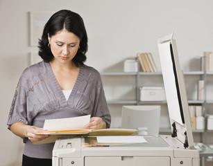 Woman Making Copies