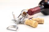 Korken, Rotwein und Korkenzieher