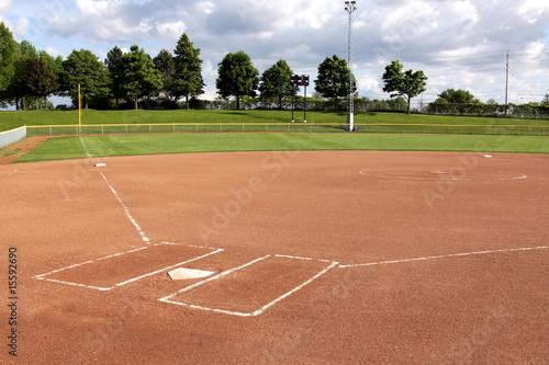 Leinwandbild Motiv Softball Diamond