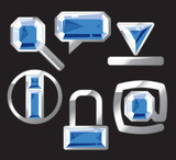 Sapphire internet and website icons poster