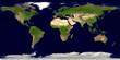 Leinwanddruck Bild - Erde mit Ländergrenzen