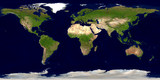 Erde mit Ländergrenzen