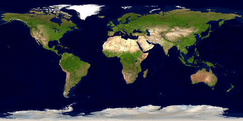 Erde mit Ländergrenzen © leiana