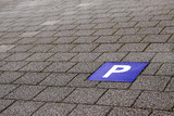 Fototapety Parkplatz blau