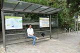transport en commun , arrêt bateau bus poster