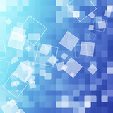 abstract blue rectangle background poster