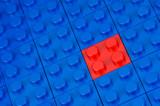 Noppen-Bauklötze rot und blau