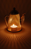 Mesh Teapot candle holder