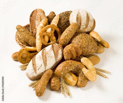 Fotobehang Brood Various types of bread